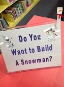 Image: build a snowman sign