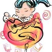 Guitar girl image