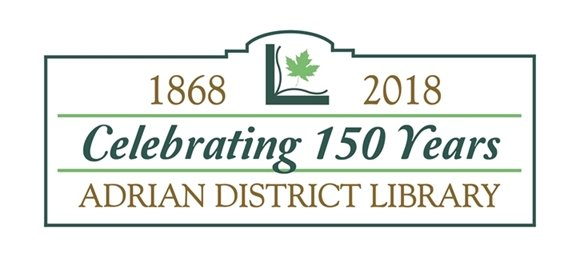 Adrian District Library 150 anniversary banner